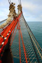 bowsprit an old sailing ship