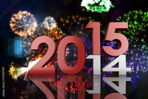 canvas print picture Composite image of 2014 and 2015