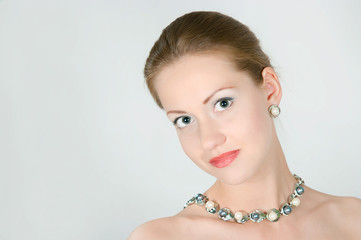 girl with a pearl necklace