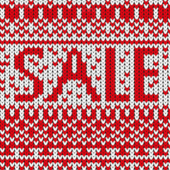 Sale red word texture