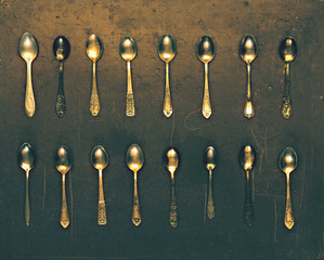 Vintage set of dessert spoons