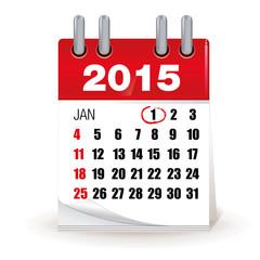 calendrier année 2015 - jour férié