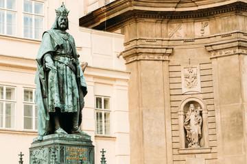 Statue Of The Czech King Charles Iv In Prague, Czech Republic