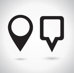 Map Pointer Icon. Location marker symbol