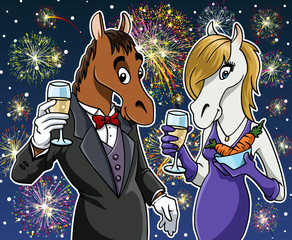 Happy new year - Horse