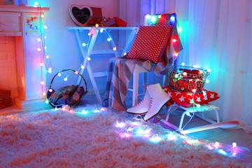 Beautiful Christmas interior concept