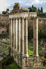 Foro Romano, tempio di Saturno - Roma