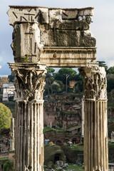 Foro Romano, tempio di Vespasiano - Roma