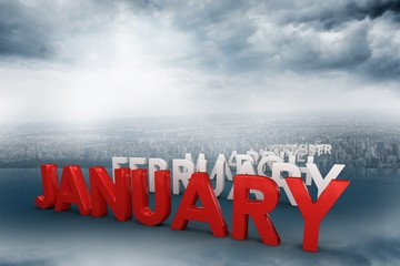 Composite image of list of months