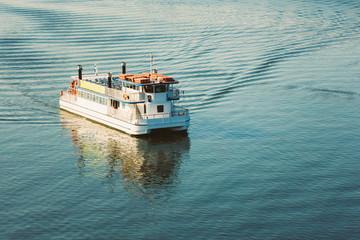 Touristic Pleasure Boat Near Harbour Of Helsinki, Finland