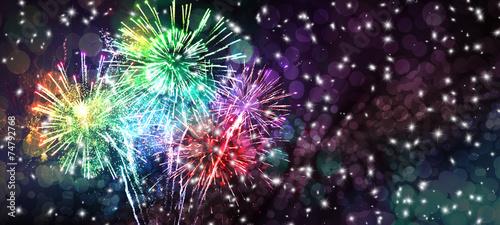 Foto op Canvas Uitvoering Silvester Feuerwerk