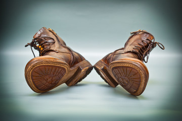 leather shoes brown. fashion trend, Italian handmade shoes