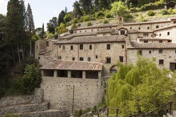 Монастырь в Ле-Челле. Тоскана. Италия