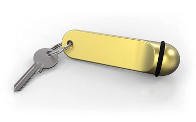 Schlüssel Schlüsselanhänger Messing
