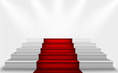 stairs to the podium