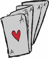 cartoon ace of hearts