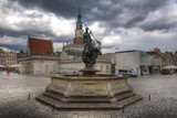Sculpture of Neptun on the Old Market Square in Poznan, Poland