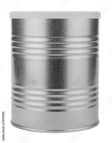 metal tin with a white lid - 74795999