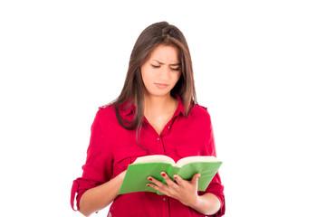 Young Latin Girl Reading Book