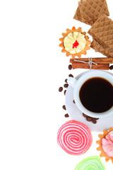 Coffee and waffles