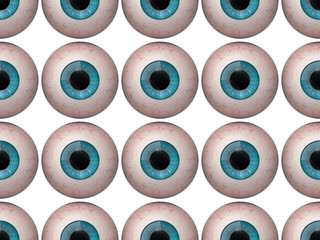 Seamless pattern of human eyeballs