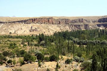 Amazing geological features in Cappadocia, Turkey
