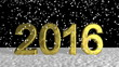 Snow Flakes on Golden New Year 2016