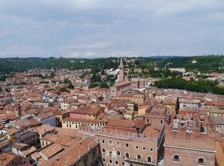 Panoramic view of the city Verona in Italy