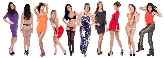 Full length of a beautiful young women