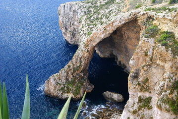 The Blue Grotto in Island of Malta