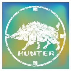 Shown sign boar hunt