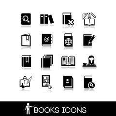 Books and Literature Icons Set 5