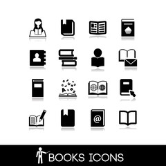 Books and Literature Icons Set 6