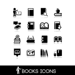 Books and Literature Icons Set 9