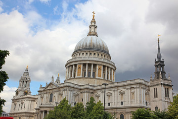 The St Paul Cathedral in London, UK
