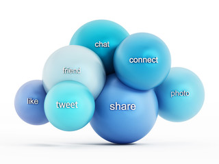 Social media cloud computing
