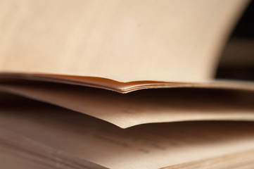 View of book pages