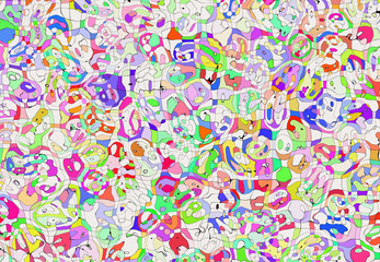 abstract multicolored painted mosaic patchwork backgrounds
