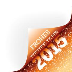 Ecke Frohes neues jahr 2015 orange