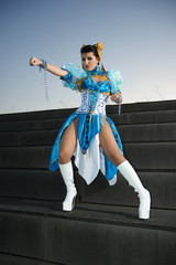 Woman with dress for Cosplayers