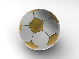 Ball, soccer ball isolated against a plain background.