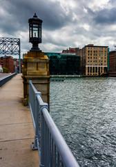 Bridge over Fort Point Channel in Boston, Massachusetts.
