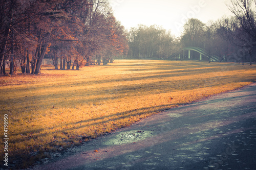 canvas print picture Herbst im Park