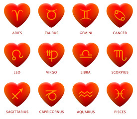 Horoscope Signs Hearts