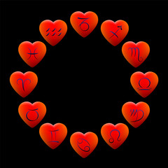 Zodiac Signs Hearts