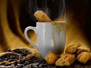 caffe' latte e biscotti
