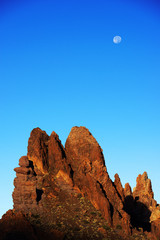 Moon over the Roques de Garcia, Teide National Park, Tenerife