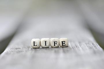 人生という文字のブロック