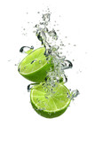 Fototapety Lime with water