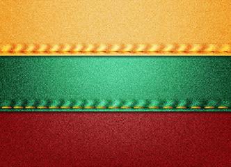 Lithuania Denim Flag